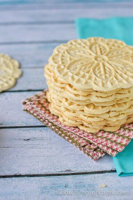 Pizzelle | Italian Waffle Cookies | Kitchen Confidante