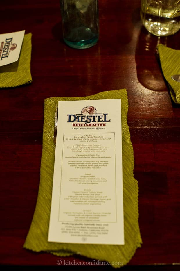 Diestel Turkey Ranch | Kitchen Confidante | Dinner Menu