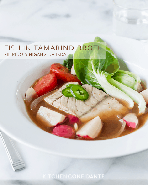 Barramundi Fish in Tamarind Broth (Sinigang na Isda) | Kitchen Confidante