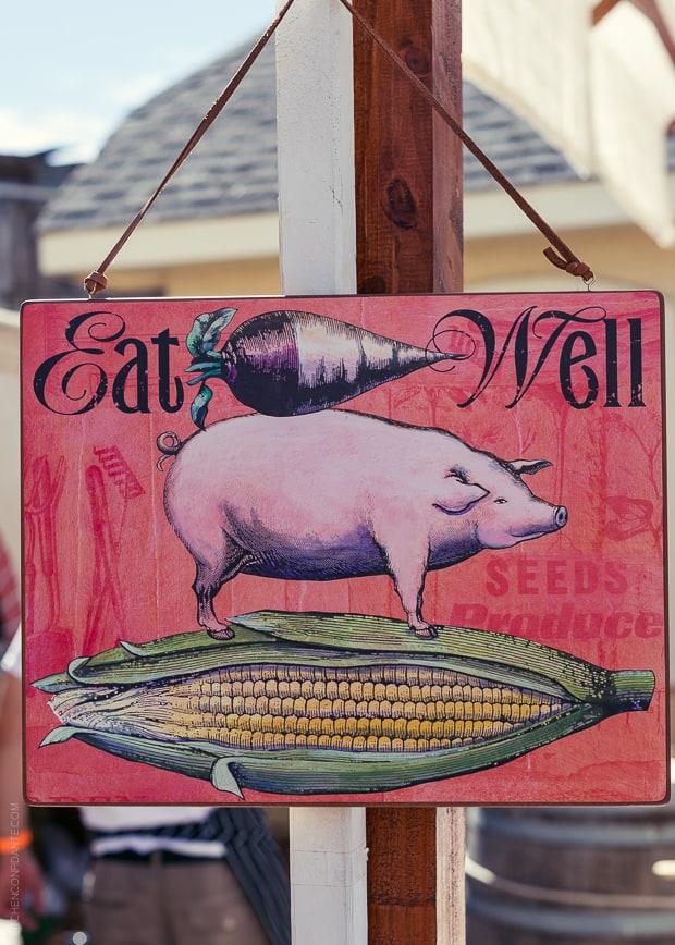 2013 Kendall-Jackson Heirloom Tomato Festival | www.kitchenconfidante.com | Eat Well Sign