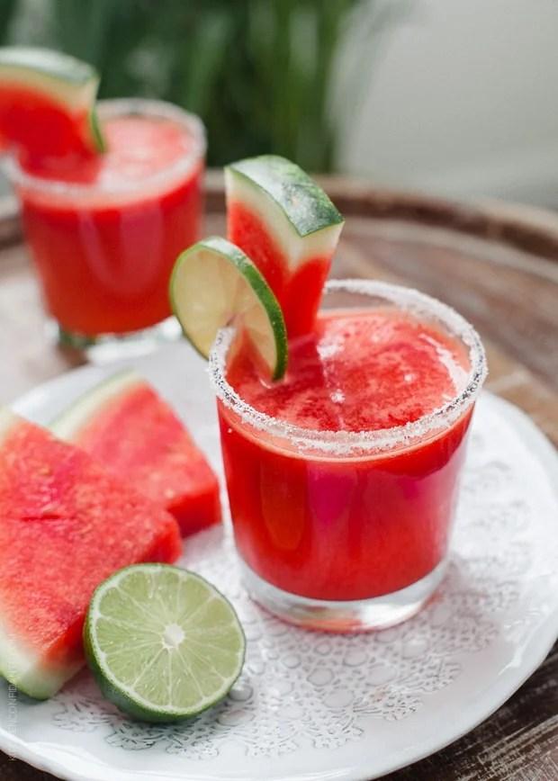 Watermelon Lime Margaritas | www.kitchenconfidante.com