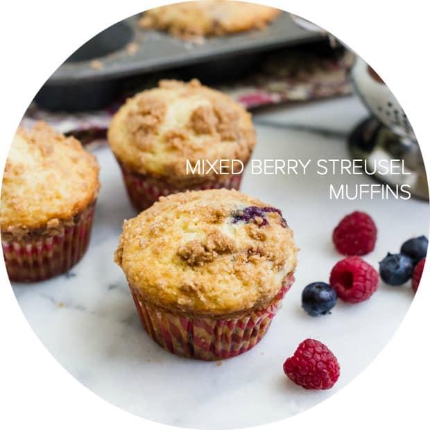 Mixed Berry Streusel Muffins | www.kitchenconfidante.com