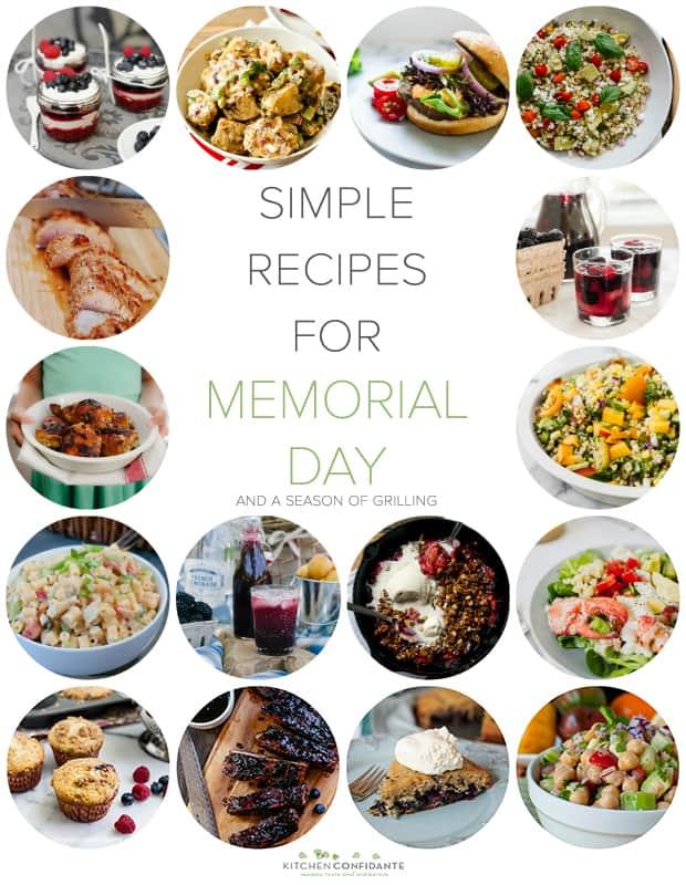 Simple Recipes Memorial Day and a Season of Grilling | www.kitchenconfidante.com