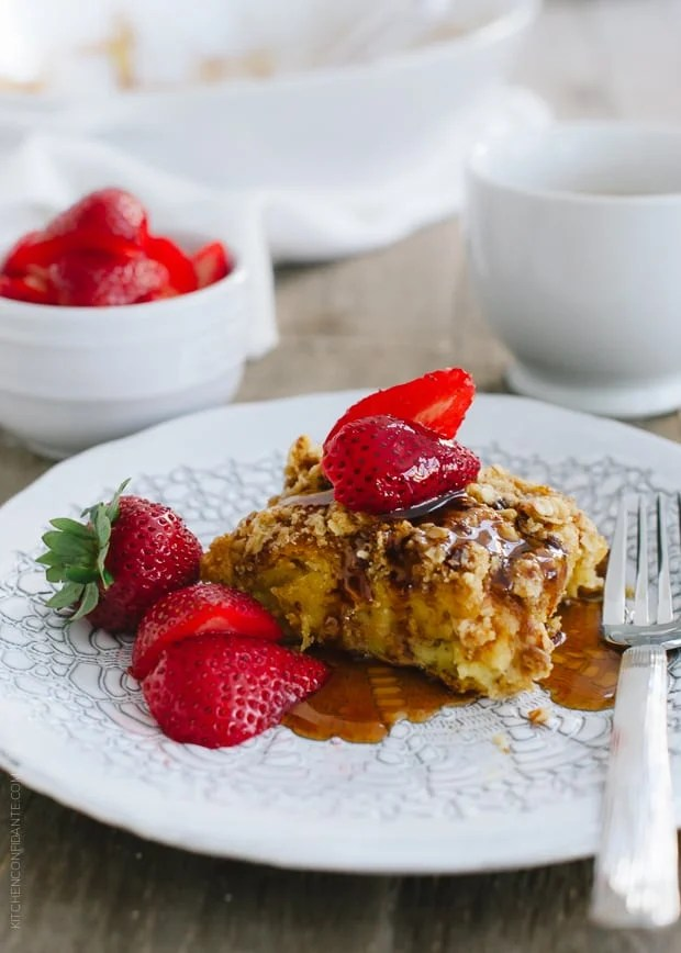 Baked Buttermilk French Toast with Oat Streusel | www.kitchenconfidante.com | When you need to feed a crowd, Baked Buttermilk French Toast with Oat Streusel is a sweet (and simple!) start to the day.