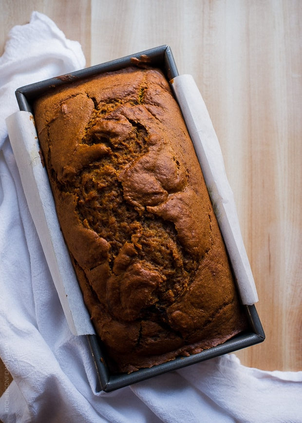 Cut into this Chocolate Marble Pumpkin Bread and discover swirls of chocolate and pumpkin goodness.