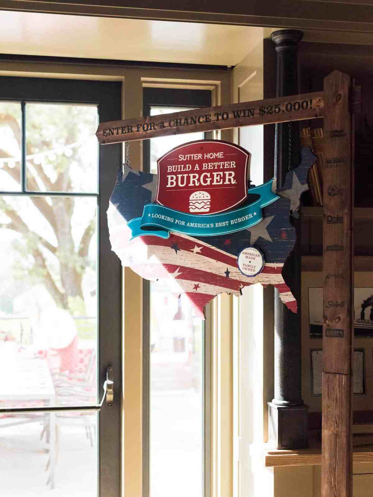 Signage at the Sutter Home 25th Annual Build a Better Burger Cookoff.