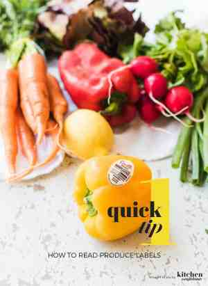 How to Read Produce Labels: Confused by produce labels (PLU codes)? Learn one quick tip to decode the code when shopping for fruits and vegetables!