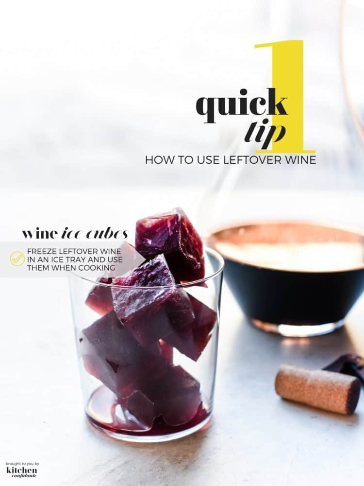 Have an unfinished bottle of wine? Learn how to use leftover wine with One Quick Tip by making wine ice cubes!