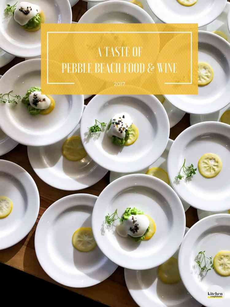Stacks of white plates with risotto and lemon slices from the Pebble Beach Food & Wine 2017