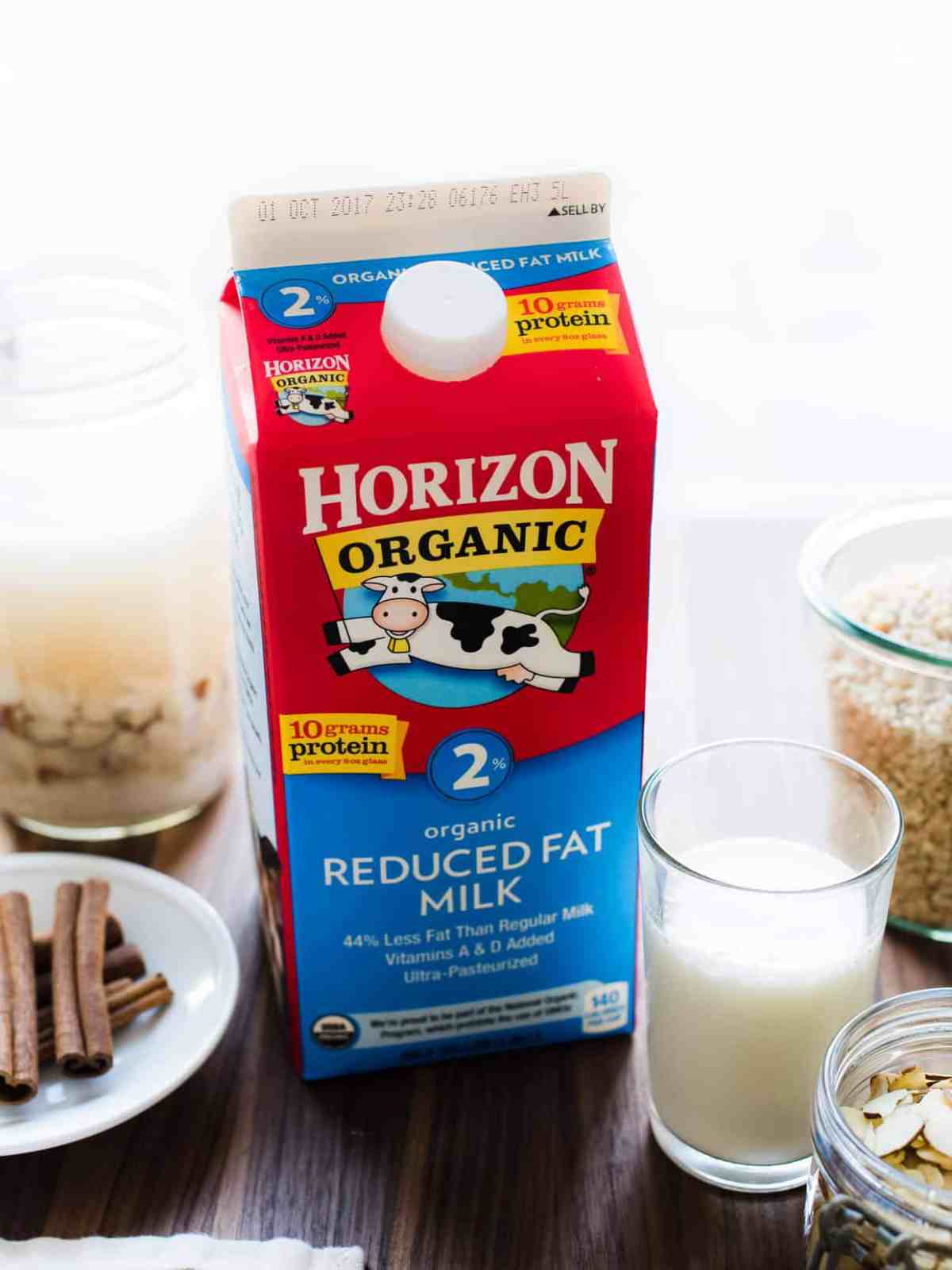 Horizon Organic milk makes homemade horchata extra creamy.