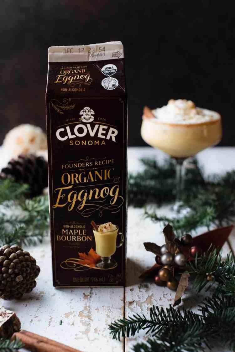 Organic Maple Bourbon Eggnog from Clover Sonoma.