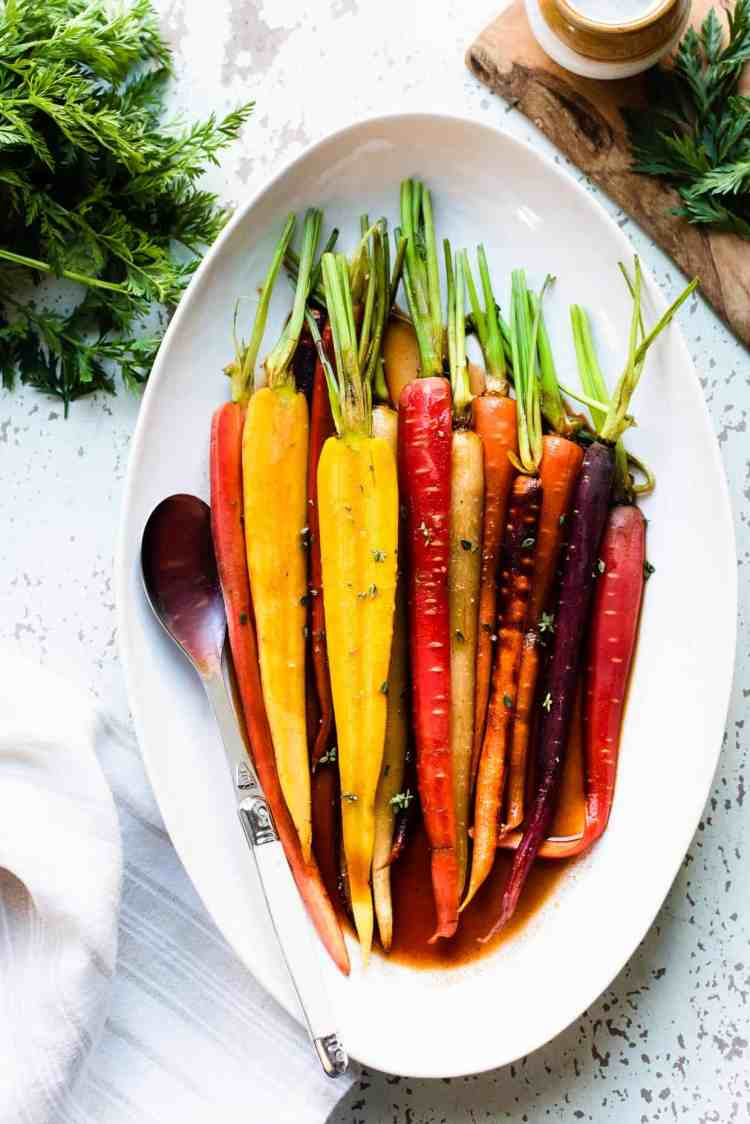 Platter of Honey-Spice Glazed Carrots