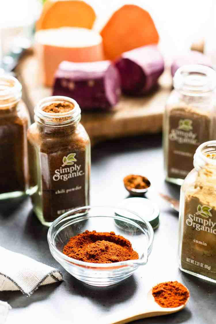Spices for Chipotle-Spiced Sweet Potato Tacos