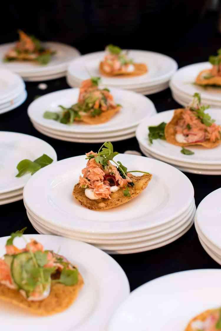 Smoked Ocean Trout from Chef Antonia Lofaso of DAMA Fashion District, PBFW Grand Tasting, 2019.