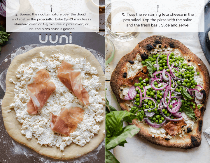 Step by step instructions on how to cook Ricotta Pizza.