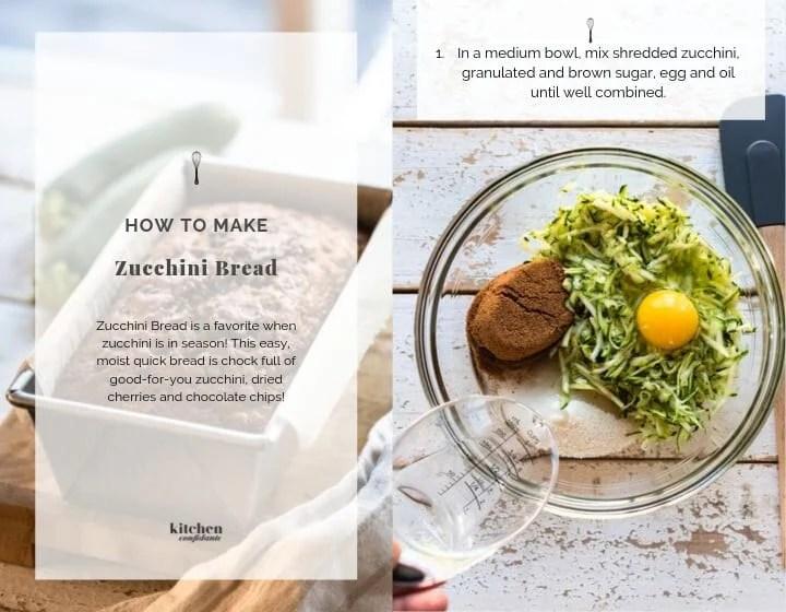 Step 1 How to Make Zucchini Bread