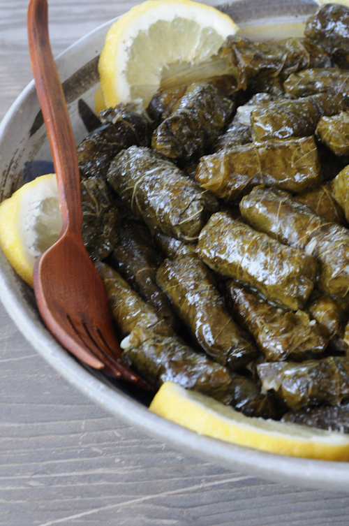 Making Yalantzi Dolmas and A Wine Tasting Lunch