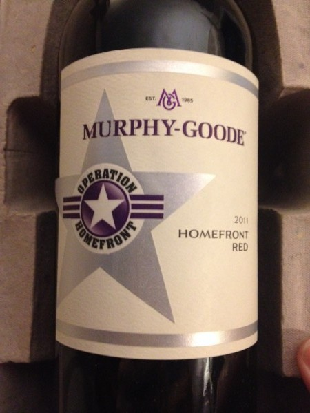 NaBloPoMo-Veteran's Day and a Bottle of 2011 Murphy-Goode Homefront Red- Grapes for a Good Cause