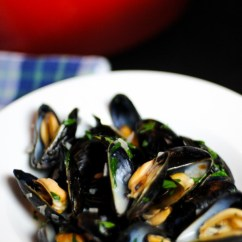 Kitchen Sink White Island With Pot Rack Moules Mariniere Or Fisherman's Mussels - French Fridays ...
