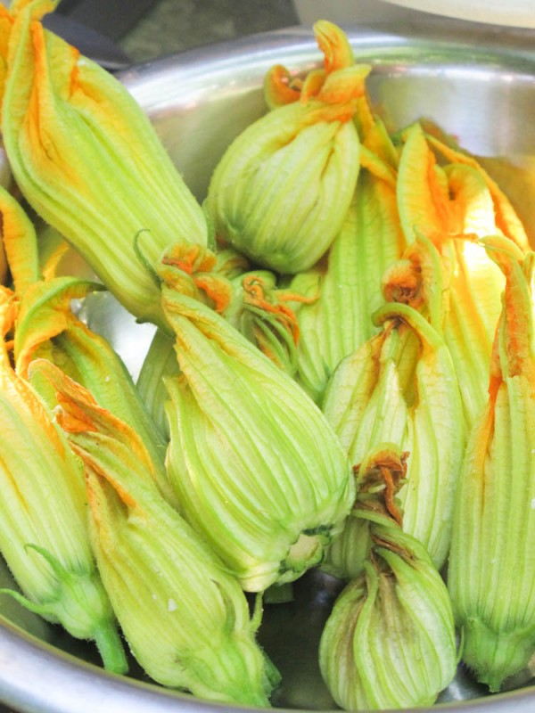 Feta-filled Zucchini Blossoms – French Fridays with Dorie with a nod to Aglaia Kremezi