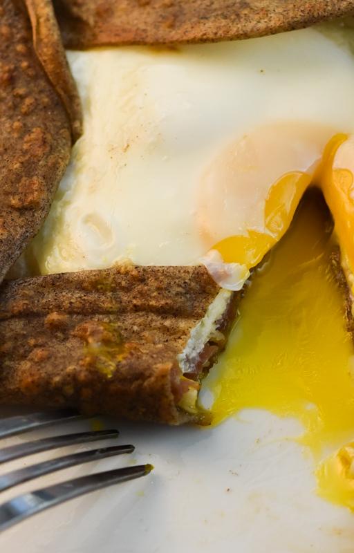 Buckwheat Crepes with Ham Cheese and EggDavid Lebovitzs
