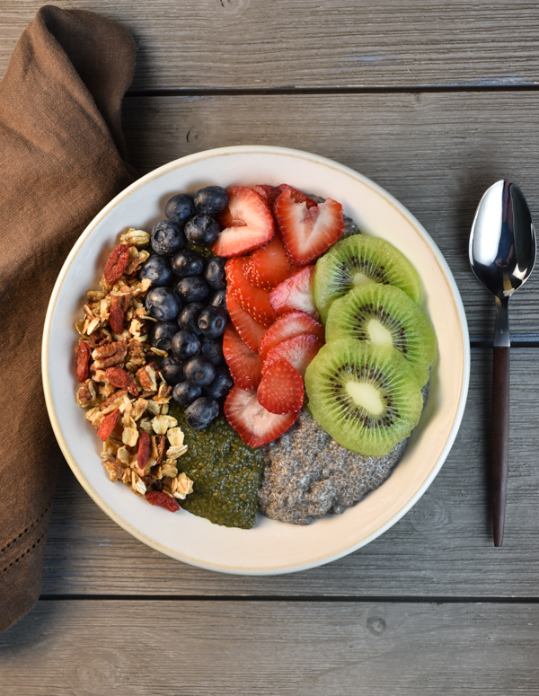 Vanilla Chia Breakfast Bowl with Quick Granola
