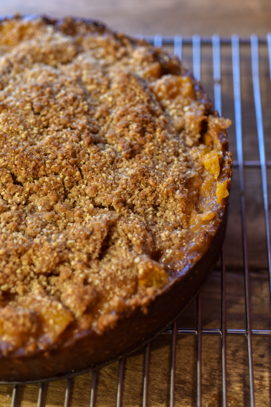 Apricot Crumble Tart with Apricot Kernel Ice Cream-3554