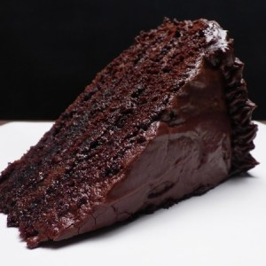 Rich and Moist Chocolate Cake.