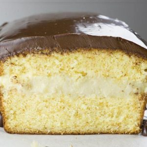 Boston Cream Pie Pound Cake