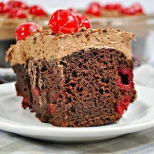 Decadent But Simple Chocolate Cherry Cake