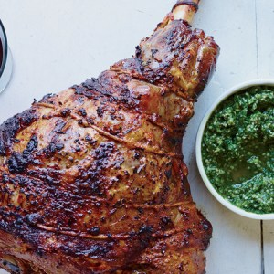 Grilled Lamb With A Herb Rub