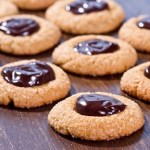Peanut Butter Chocolate Thumbprint Cookies