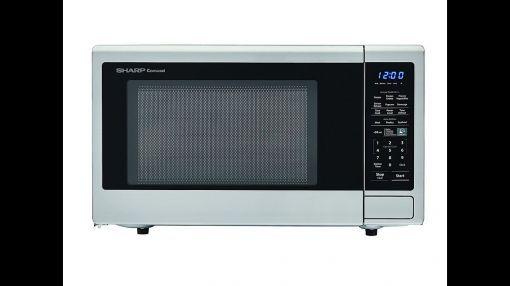 sharp carousel smc1132cs 1 1 cu ft 1000w countertop microwave oven