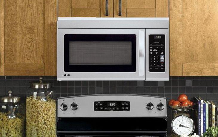 lg lmv1831st 1 8 cu ft over the range microwave oven