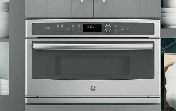 ge profile pwb7030slss 1 7 cu ft microwave oven