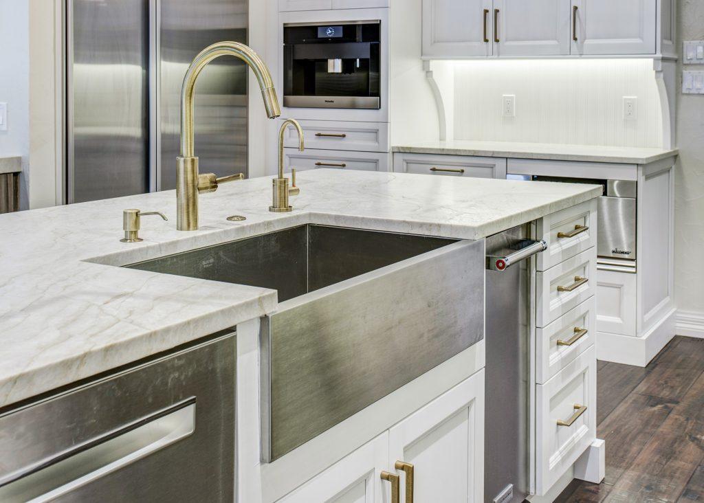 sink styles farmhouse vs single bowl