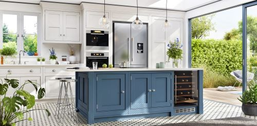 Blue is a kitchen cabinet color trend 2021