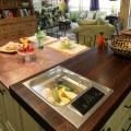 Wood countertops in detail interiors