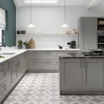 Solid Wood Dust Grey Kitchen