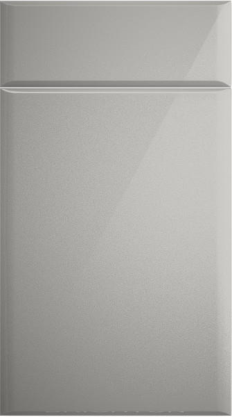 grey high gloss kitchen doors Brighton High Gloss Light Grey Kitchen Doors | Made to Measure from £4.16
