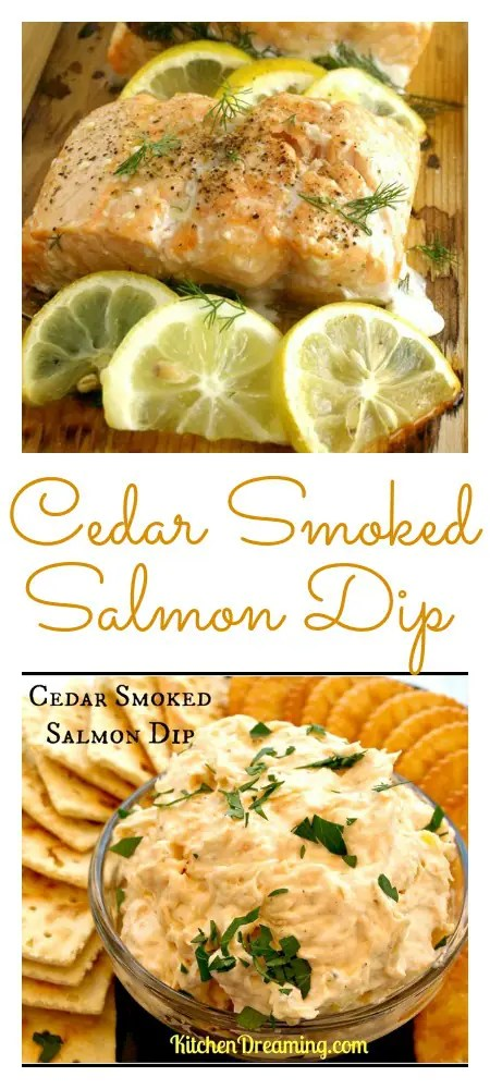 The flavor of the cedar smoke doesn't overpower the Salmon and really blends well with the other flavors in this Cedar Smoked Salmon Dip.