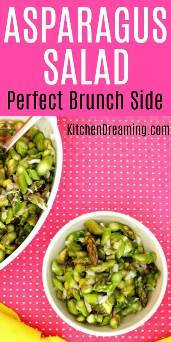 A pinnable Pinterest image of Asparagus Salad.