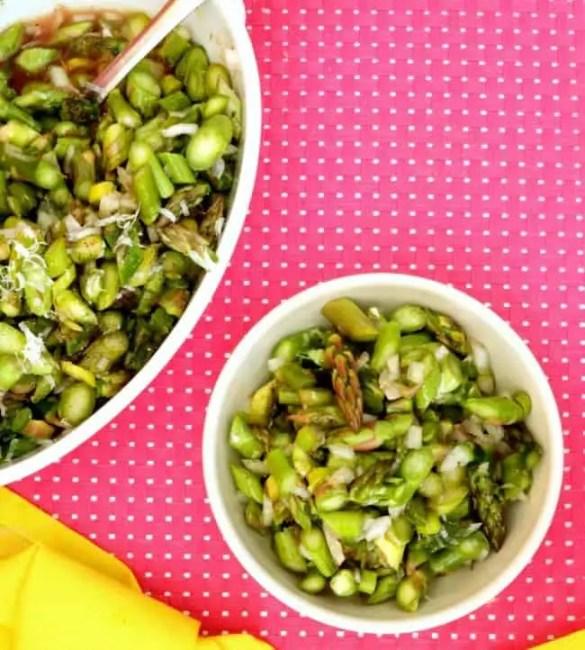 A bowl of Asparagus Salad