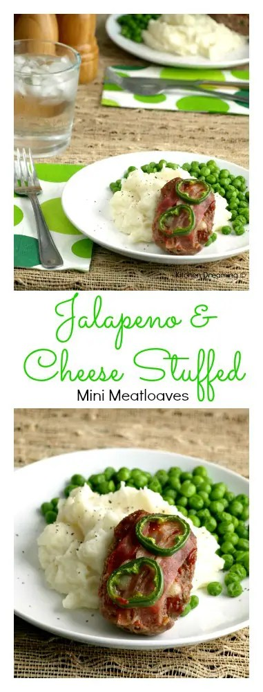 Jalapeno-cheese Stuffed Mini Meatloaf . These perfect sized meatloaf's are super easy to make and even easier to portion out.