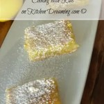 Cooking with Kids Best Lemon Bar Recipe. This lemon bar recipe is for lemon lovers and packs a powerful lemon flavor.