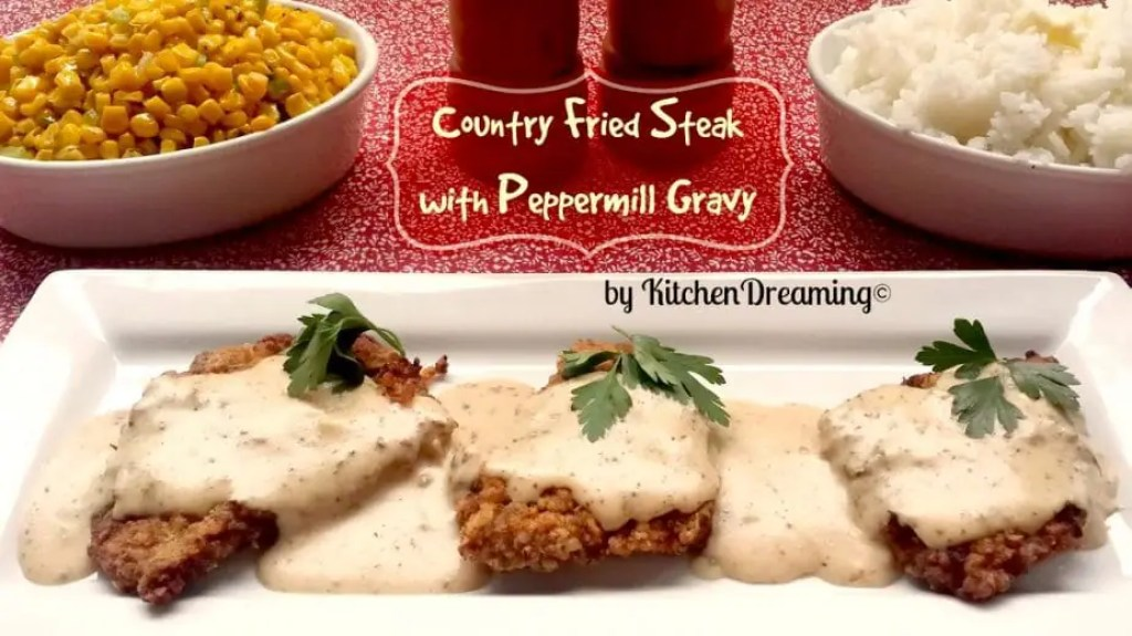 Chicken Fried Steak with Country Gravy is a southern comfort food which has many names including Country Fried Steak, Southern Fried Steak, or as my mom called it Smothered Fried Steak.