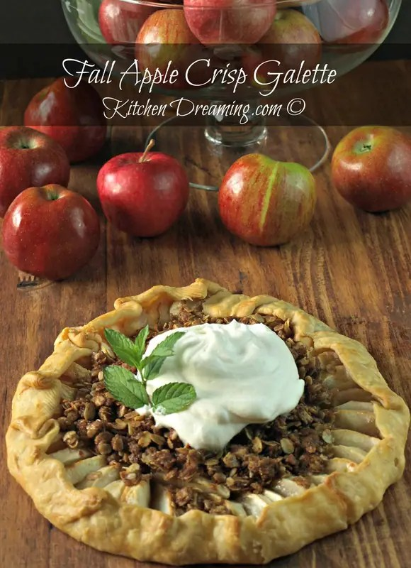 Fall Apple Crisp Galette is so easy to make and yet so impressive, add whipped cream or ice cream and you have a fall hit on your hands.