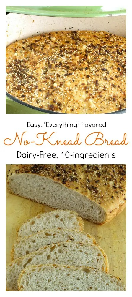 Everything No-Knead bread is so simple to make a 5-year old can do it! This bread is as easy as it is delicious!