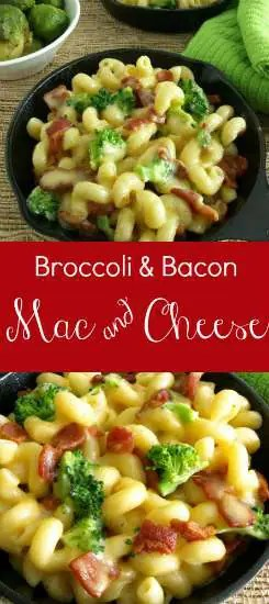 The bacon fat adds an extra layer of bacon-y flavor in this Bacon and Broccoli Mac and Cheese. | kitchendreaming.com |