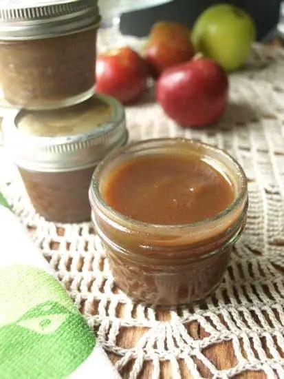 Crock Pot Apple Butter in canning jars